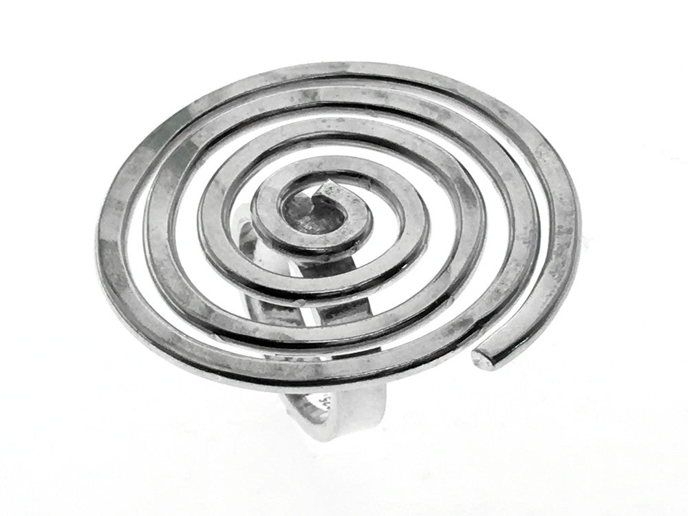 Spiral Joined .925 Sterling silver Ring - Essentially Silver Jewelry