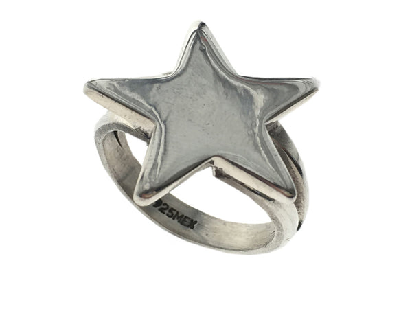 Star Sterling Silver Ring - Essentially Silver Jewelry