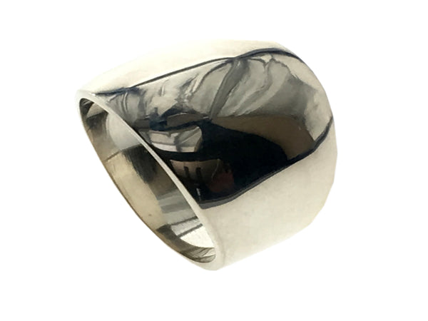 Solid 15mm Domed .925 Sterling Silver Ring - Essentially Silver Jewelry