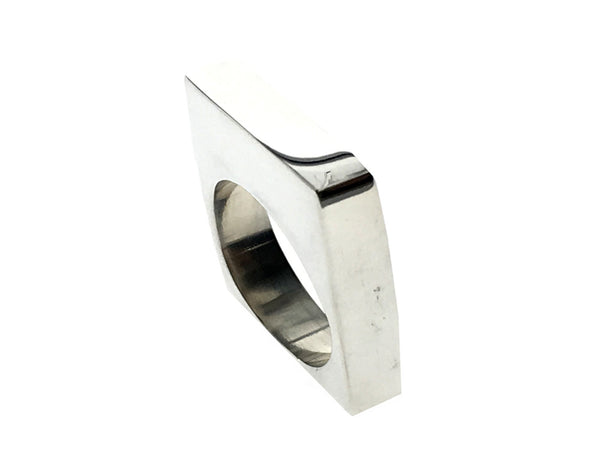 Solid Thin Square Sterling Silver Ring - Essentially Silver Jewelry