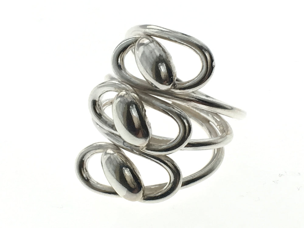 Triple Wire Twisted Sterling Silver Ring - Essentially Silver Jewelry