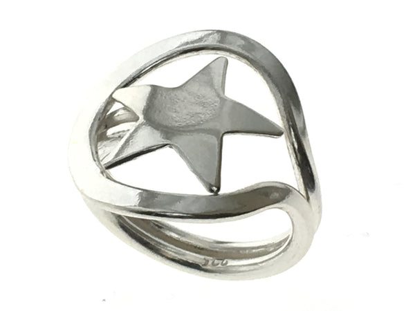 Star & Lassoo Wrap .925 Sterling Silver Ring - Essentially Silver Jewelry