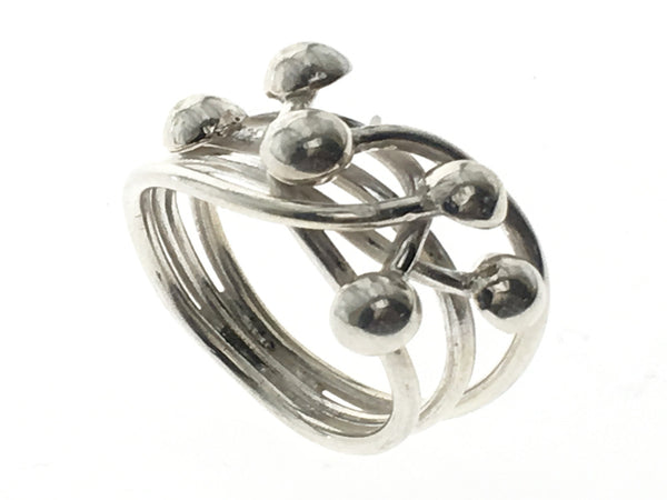 Tangled Ball Knot .925 Sterling Silver Ring - Essentially Silver Jewelry
