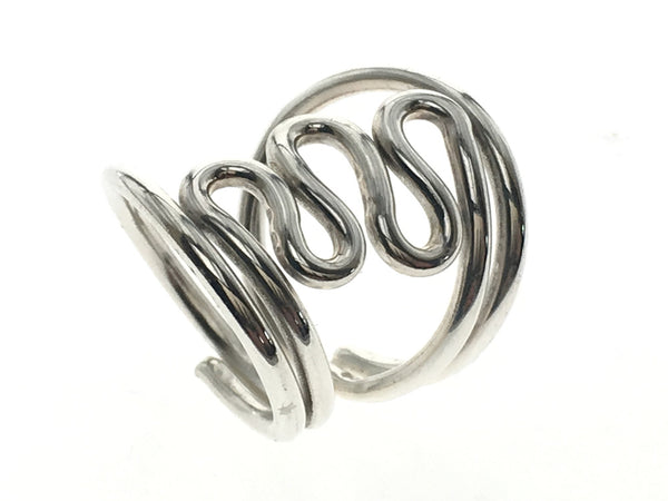 Wire Zig Zag .925 Sterling Silver Ring - Essentially Silver Jewelry