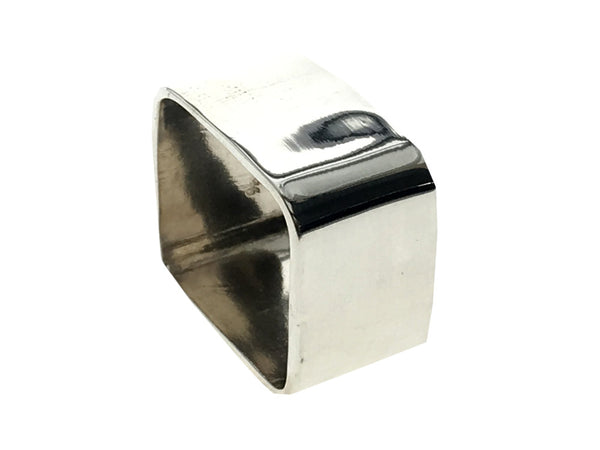 Square Plain 11mm .925 Sterling Silver Ring - Essentially Silver Jewelry