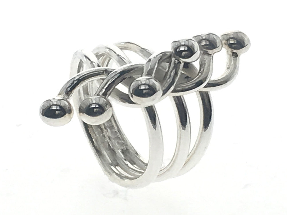 Tangle Wire Knots Sterling Silver Ring