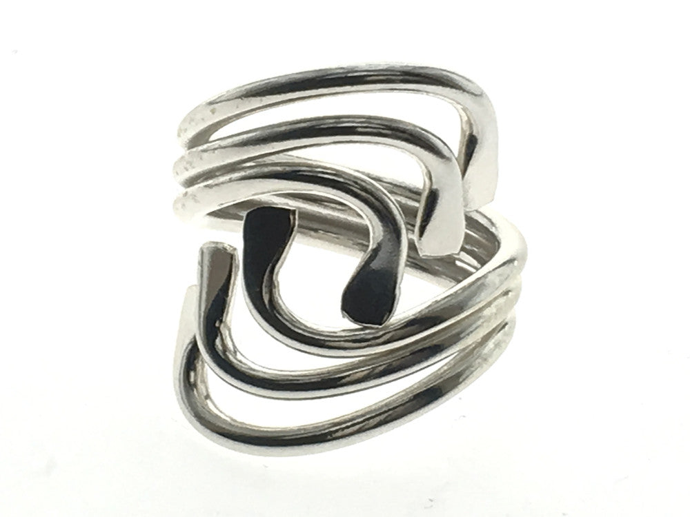 Triple Leaf Front Sterling Silver Ring - Essentially Silver Jewelry