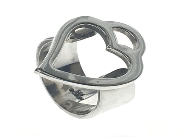 Heart Open .925 Sterling Silver Ring - Essentially Silver Jewelry