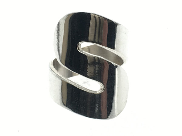 Swirl Shaped Sterling Silver Ring - Essentially Silver Jewelry