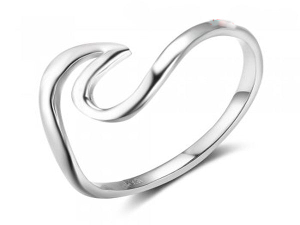 Popular Wave Sterling Silver Ring - Essentially Silver Jewelry