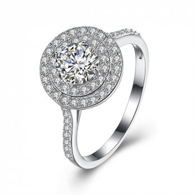 Cubic Zirconia Round 925 Sterling Silver Ring - Essentially Silver Jewelry