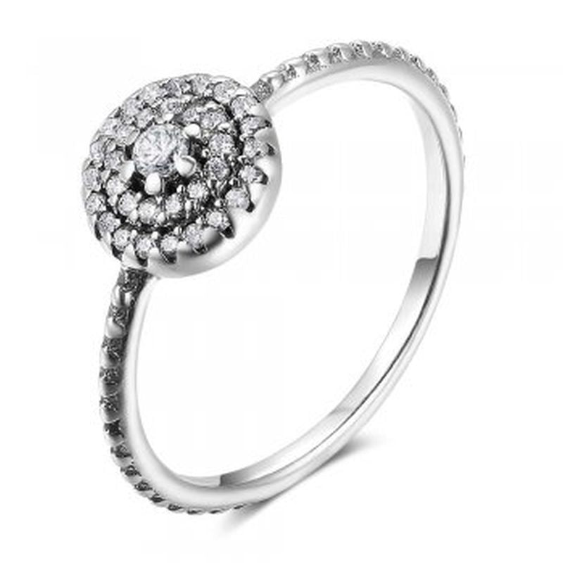Cubic Zirconia Round Sterling Silver Ring - Essentially Silver Jewelry