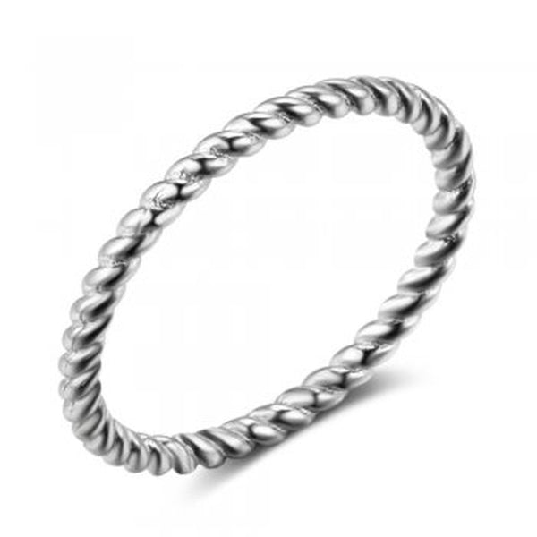 Twisted Rope Sterling Silver Ring