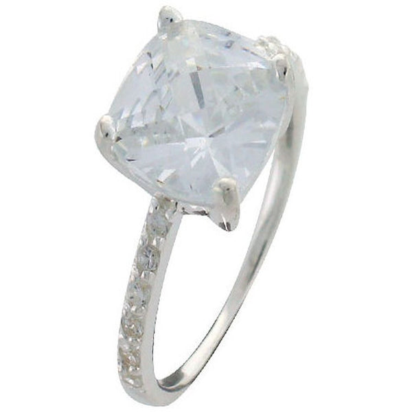 Cubic Zirconia Sterling Silver Stackable Ring - Essentially Silver Jewelry