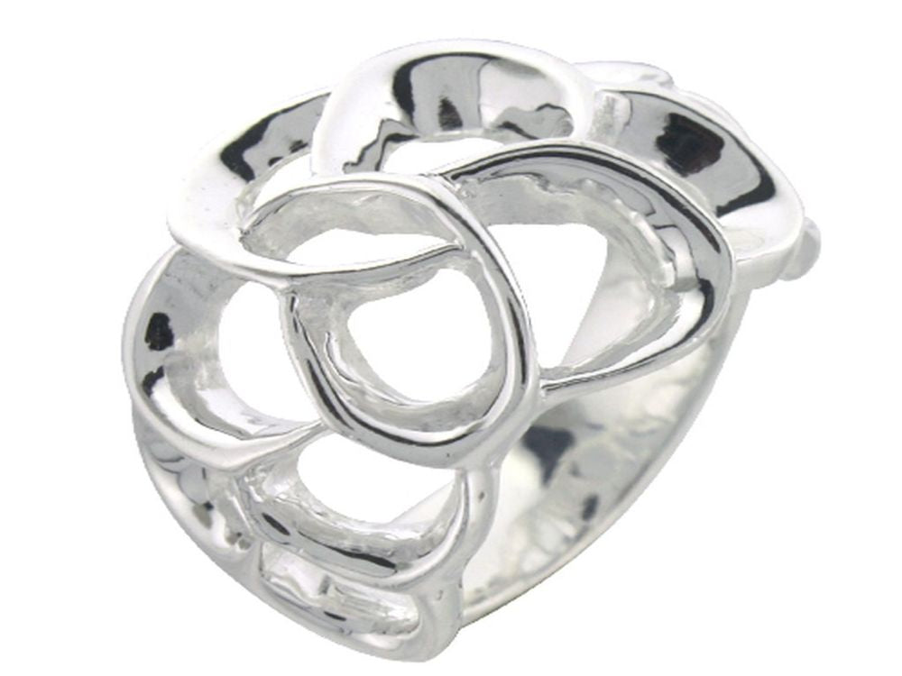 Interlocked .925 Sterling Silver Ring - Essentially Silver Jewelry