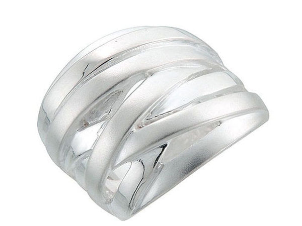 Plaited Matte .925 Sterling Silver Ring - Essentially Silver Jewelry