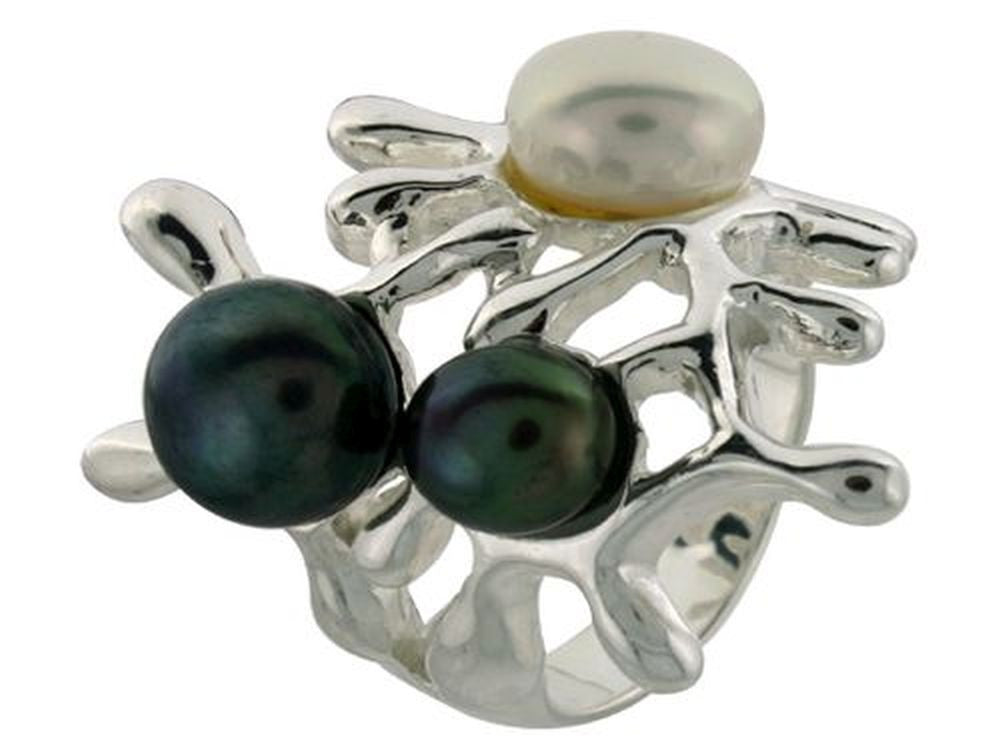 Flower Pearl .925 Sterling Silver Ring - Essentially Silver Jewelry