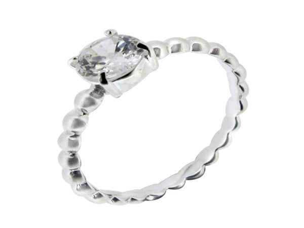 Cubic Zirconia Stackable Sterling Silver Ring - Essentially Silver Jewelry