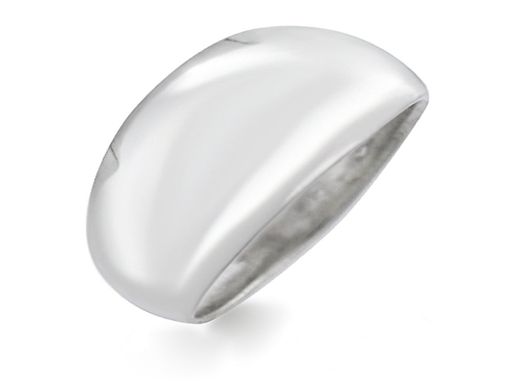Plain Pulp Tapered 10mm Sterling Silver Ring