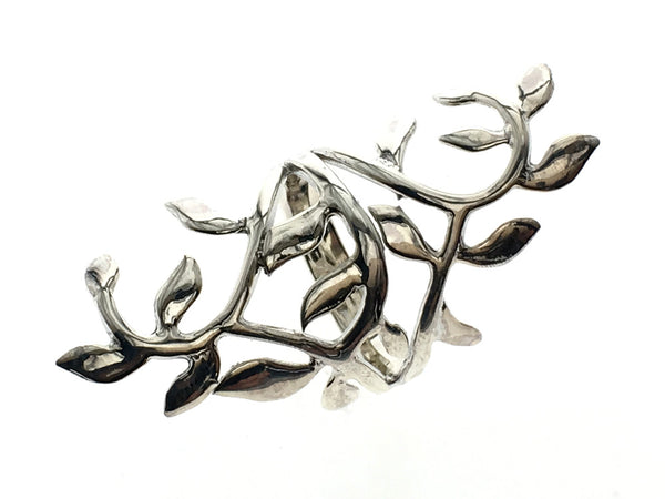 Leafy Branch .925 Sterling Silver Ring - Essentially Silver Jewelry