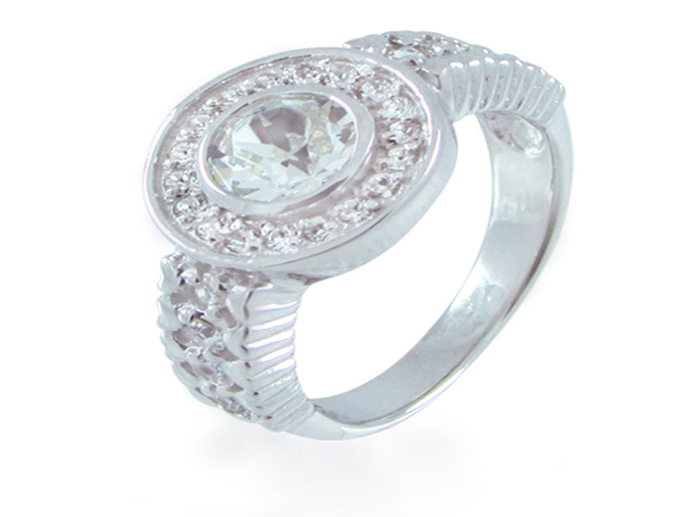 Crystal Halogen Sterling Silver Ring
