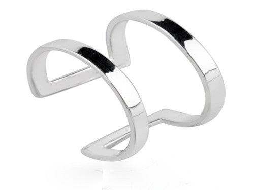Midi Fingertip Open Sterling Silver Ring - Essentially Silver Jewelry