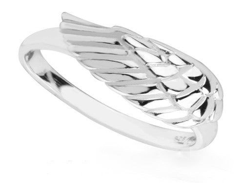 Angel Wing Sterling Silver Ring - Essentially Silver Jewelry