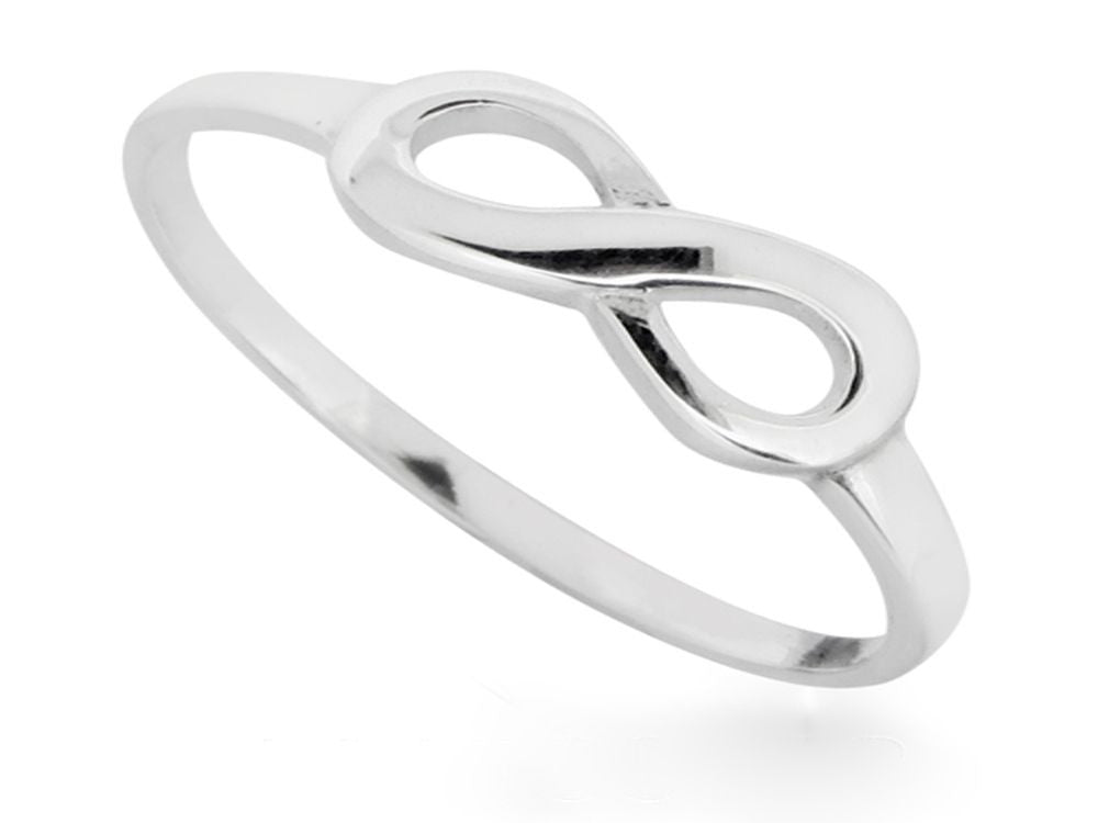 Midi Infinity Sterling Silver Ring - Essentially Silver Jewelry