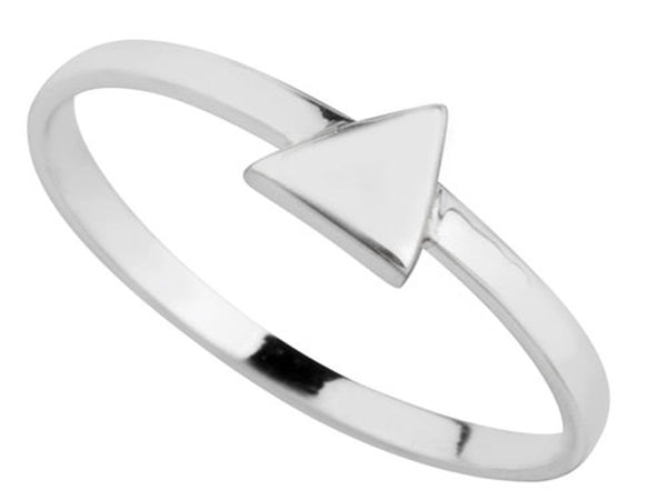 Midi Triangle .925 Sterling Silver Ring - Essentially Silver Jewelry