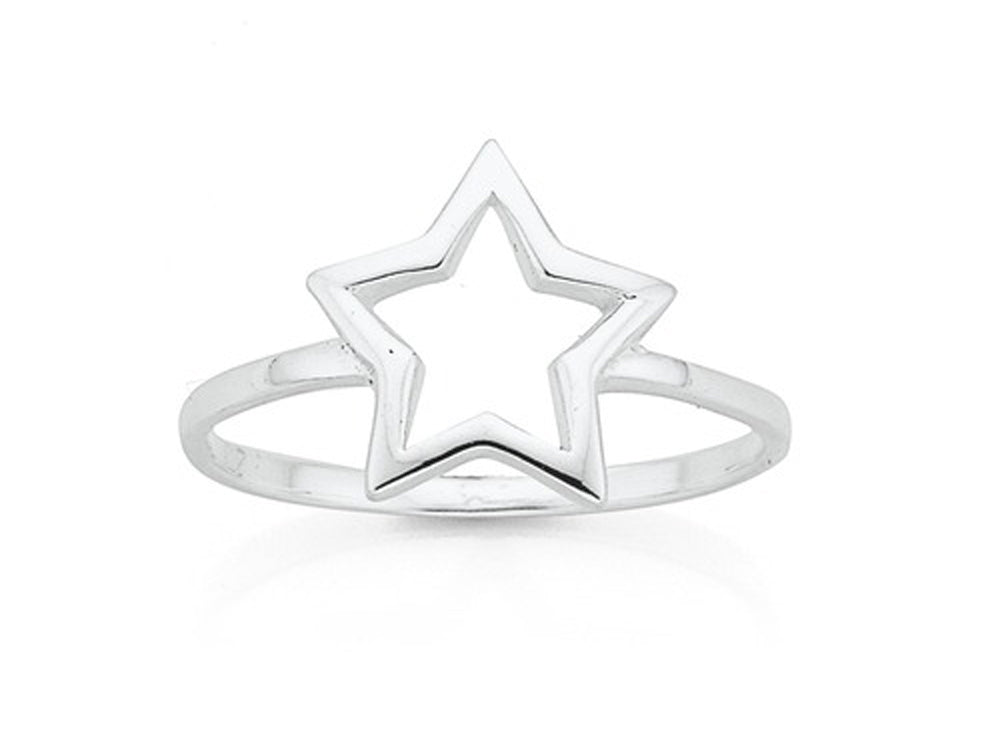 Star Midi .925 Sterling Silver Ring - Essentially Silver Jewelry