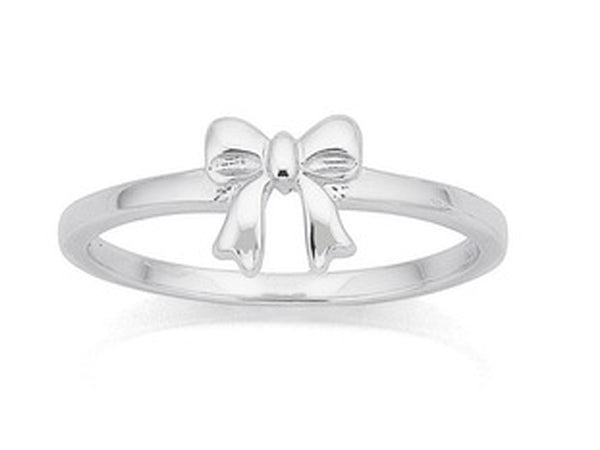 Midi Bow Sterling Silver Ring - Essentially Silver Jewelry
