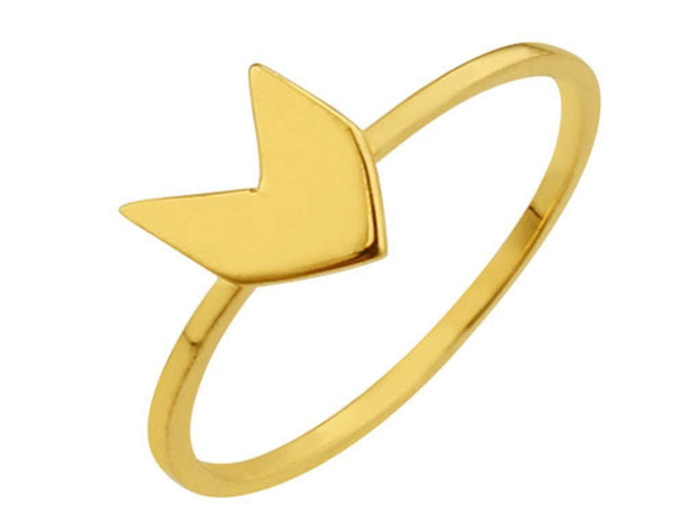 Gold Plated Arrow Ring Sterling Silver Ring - Essentially Silver Jewelry