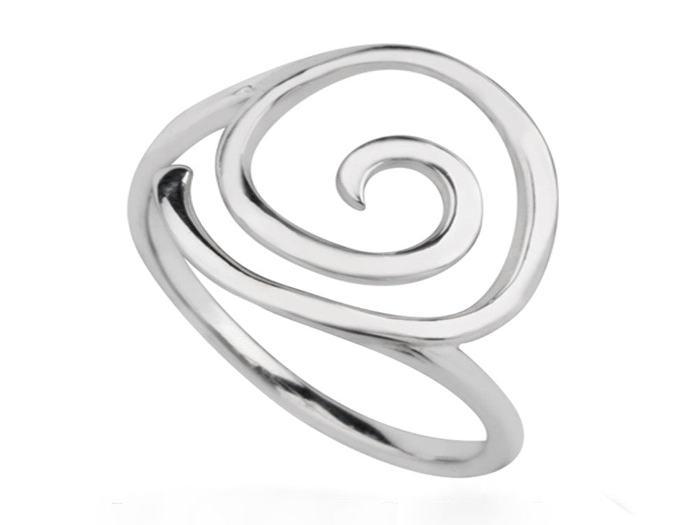 Spiral Sterling Silver Ring - Essentially Silver Jewelry