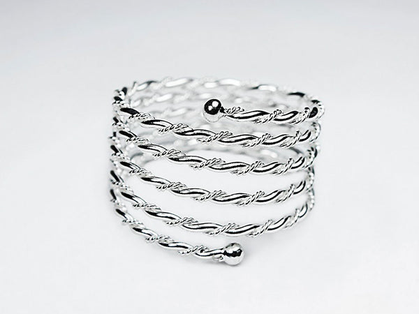 Rope Sterling Silver Coil Spring Ring