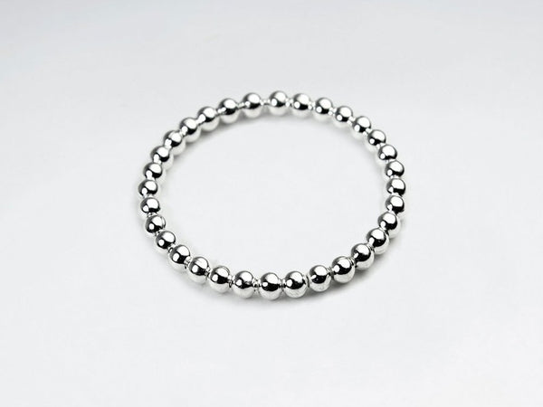 Sterling Silver Bead Thin Band