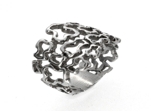 Mosaic Sterling Silver Ring