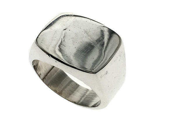 Plain Signet Male Sterling Silver Ring