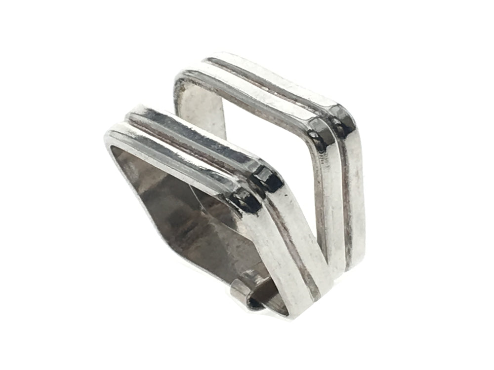 Grooved Hinged Box Sterling Silver Ring