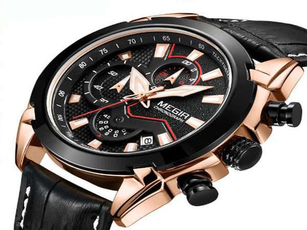 Megir Chronograph Business Watch