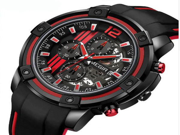 Megir Chronograph Military Dial Sports Watch