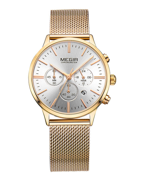 Megir Gold Quartz Ladies Watch