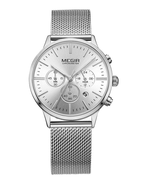 Megir Ladies Silver Watch