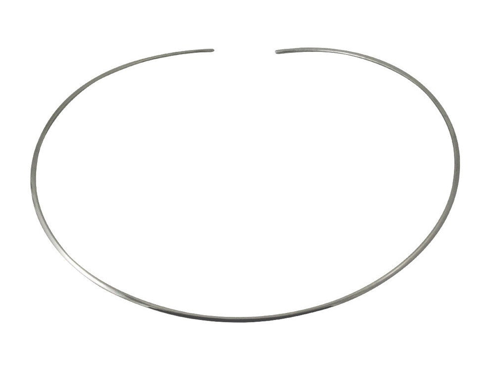 Collar Round Open 2mm Sterling Silver - Essentially Silver Jewelry