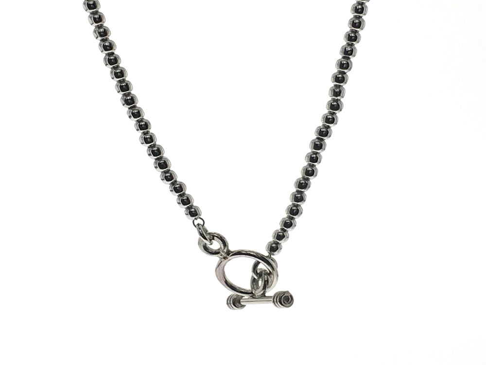 Ball 3/407mm 16' Toggle Clasp Sterling Silver Necklace - Essentially Silver Jewelry