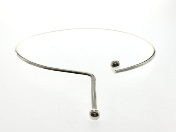 Collar Bar Ball 3mm Sterling Silver - Essentially Silver Jewelry