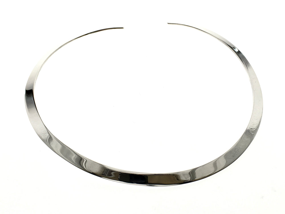 Collar Open Round 5mm Sterling Silver Choker - Essentially Silver Jewelry