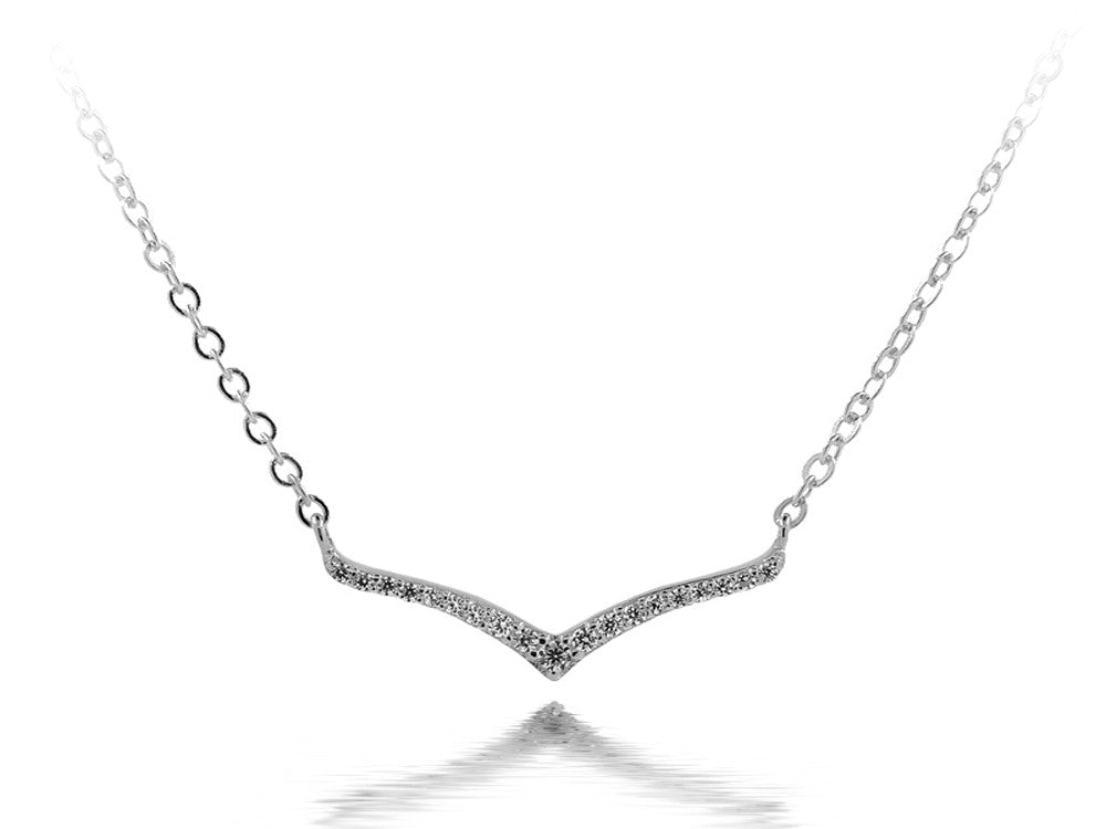 A Sterling Silver Cubic Zirconia Necklace - Essentially Silver Jewelry