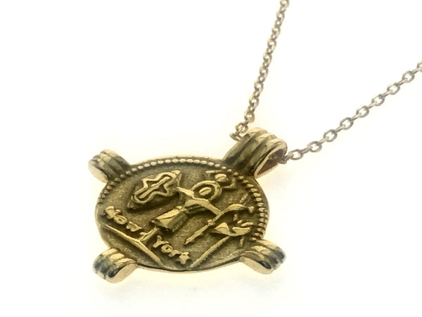 18K Gold Plated 925 Sterling Sllver Pharoh Totem Necklace