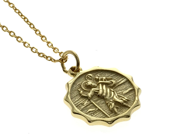 Coin 18K Gold Plated 925 Sterling Silver Coin Necklace