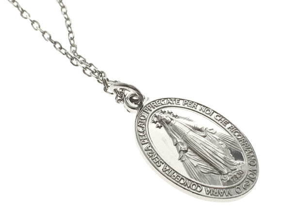 Mary Sterling Silver Pendant Necklace